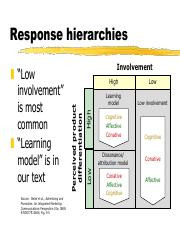 Response hierarchies