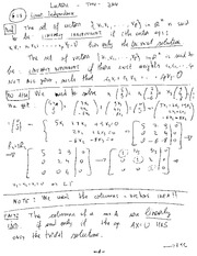 MECH 465 Linear Independence Notes