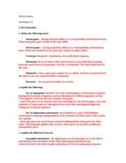molecular genetics lab report