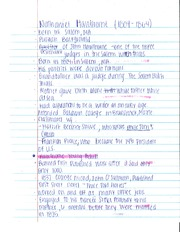 History Nathaniel Hawthorne Notes