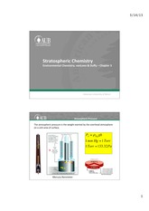 Chapter 3 vanLoon - Stratospheric Chemistry