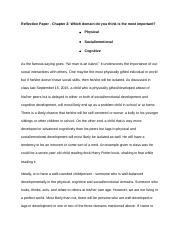 Reflection Paper - Chapter 3