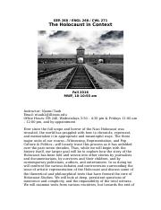 Good introduction essay holocaust