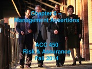 ACC 450 8 Management Assertions Fall 14