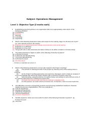 Operations Management Question Paper with Answers.docx