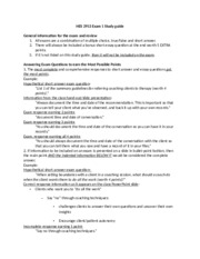 2913 SP14 exam 1 study guide