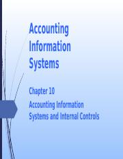 L09 Accounting Information Systems Internal Controls