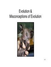 4 - Evolution & Misconceptions of Evolution.pdf