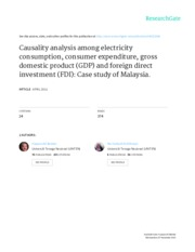 Causality analysis among electricity-JEIF