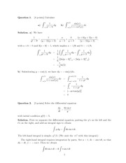 Sample Midterm 1 Solutions