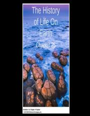 Bio Ch 25 The History of Life on Earth Student Version