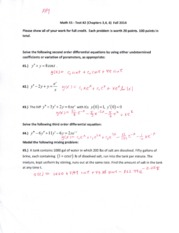 Math 55 Test #2 (Chapters 3, 4, 6) Fall 2014 SOLUTIONS (1)