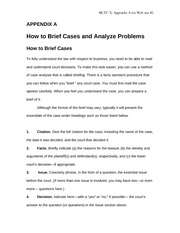 How To Brief Cases