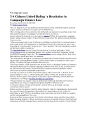 Business Law Citizen United Info