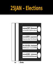 Lecture-25JAN&28JAN-Elections(The Electoral System)