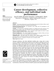2. Career Development, collective self-efficacy and individual task performance