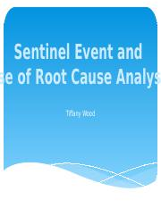 sentinel event and root cause analysis