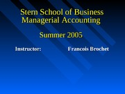 Intro To Management Accounting