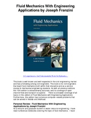 Fluid Mechanics With Engineering Applications by Joseph Franzini - 5 Star Review