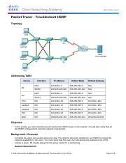 4.3.4.4 Packet Tracer - Troubleshoot HSRP(1).docx