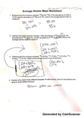 Printables Average Atomic Mass Worksheet average atomic mass worksheet generated by camscanner