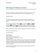 Exam Writing Guide SP17