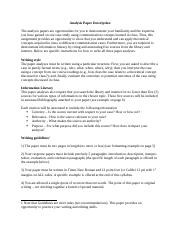 analysis paper overview