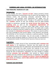 COMMON LAW LEGAL SYSTEM- AN  INTRODUCTION.docx