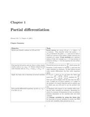 Partial Differentiation Lecture