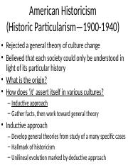 7. American Historicism
