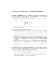 Math 121 - Systems of Inequalities and Linear Programming