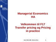 F17 -Transfer Pricing and Pricing_in_practice