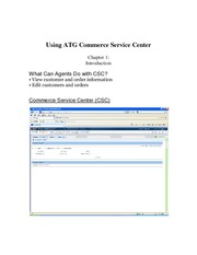 Using ATG Commerce Service Center