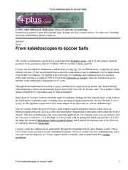 From kaleidoscopes to soccer balls