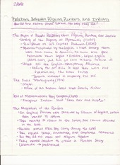 History 205 Lecture Notes on The Relations Between Pilgrims, Puritans, and Indians