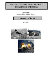 History 100 Glossary of Military History Terms