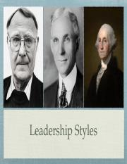 Leadership Styles W