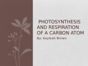 Photosynthesis and Respiration of  Carbon Atom