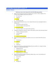 NOS 130-Lesson 17 Knowledge Assessment-With Answers