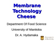 18 Cheese Membrane Technology