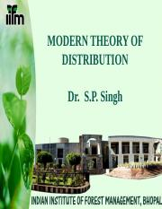 Modern Theory of Distribution part -II