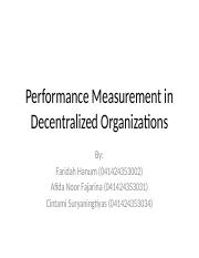 Performance Measurement in Decentralized Organizations.pptx
