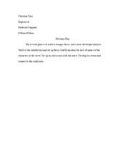 English 1A - Essay #1 Revision Plan