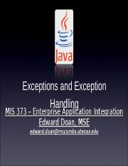 10-20 Exceptions