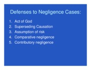 defenses to negligent cases ppt