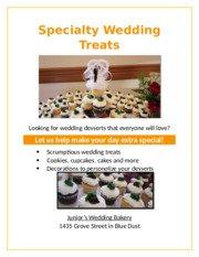 Lab 1-2 Wedding Bakery Flyer