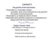Lecture 3 on Heat