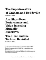 Class Note VALUE - BESTINVER - The Superinvestors of Graham and Doddsville by Warren Buffett