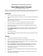 Basic Measurement Concepts Lab.s15