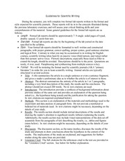 BSC2011L Biology 2 Lab, Guidelines for Scientific Writing